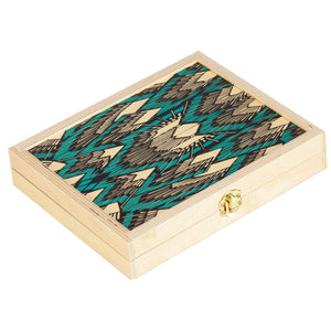 TRAVEL BACKGAMMON SET  DECO TEAL