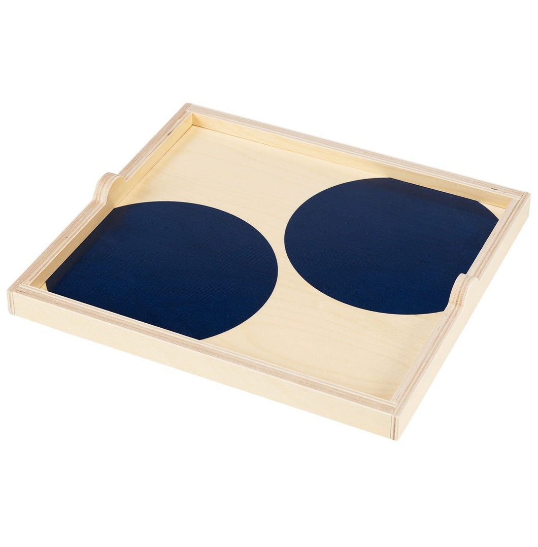 NAVY DOT SQUARE TRAY