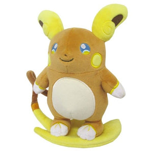 "Pokemon All Star Collection Alolan Raichu 7"" Plush"