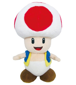 "Super Mario All Star Collection Toad 8"" Plush"