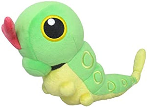 "Pokemon All Star Collection Caterpie 7.5"" Plush"