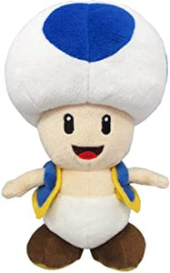 "Super Mario All Star Collection Blue Toad 8"" Plush"
