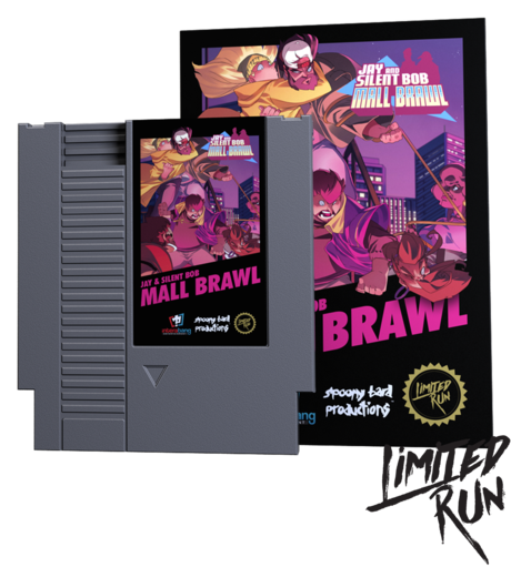 Jay and Silent Bob Mall Brawl (Grey Cart) (Limited Run) NES New