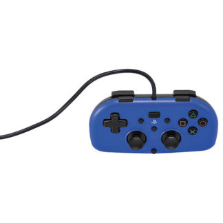 PS4 Wired Mini Controller (Blue) (Hori Brand) New