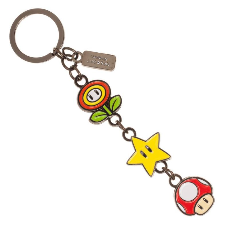 Super Mario Bros Powerup Keychain