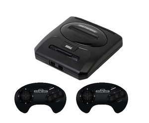 Sega Genesis Console (Model 2) w/ 2 Controllers Used