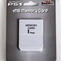 PS1 Memory Card 1MB (Old Skool Brand) New