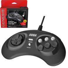 Official Sega Genesis 8 Button USB Controller (Black) (Retro-Bit Brand) New