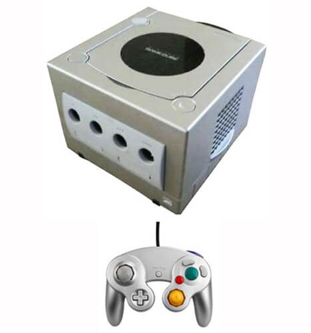 GameCube Console w/ 1 Controller and 1 Memory Card (Silver) Used