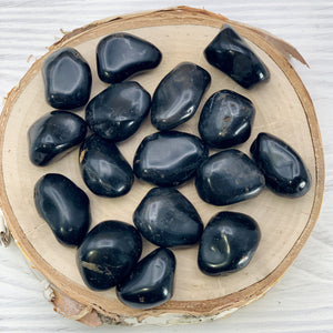 Black Onyx Crystal Tumbled  Stone - Interiors in Balance