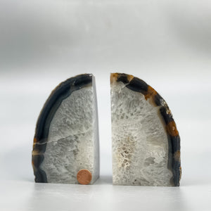 Agate Bookends, Large and Small Selections