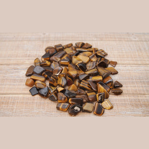 Tiger's Eye Tumbled Stone Nugget: Power, Courage, Understanding - Interiors in Balance