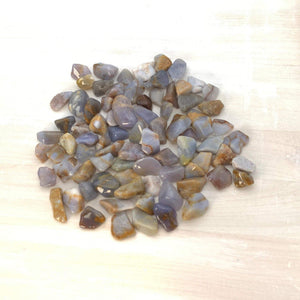 Blue Chalcedony, Demure Crystal, Tumbled Nugget (3 Stones Per Order) - Interiors in Balance