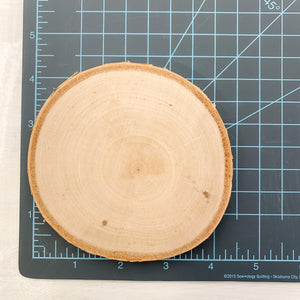 White Birch Tree Round Crystal Coaster - Interiors in Balance