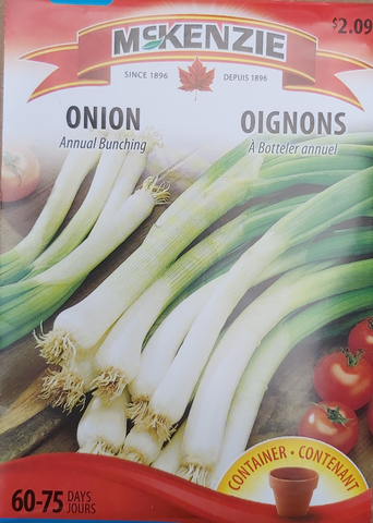 McKenzie Seeds Onion Annual Bunching