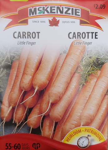McKenzie Seeds Carrot Little Finger