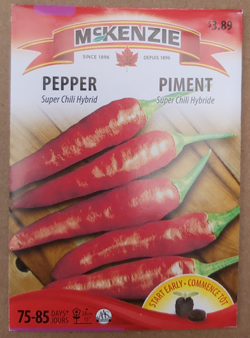 McKenzie Seeds Pepper Super Chili Hybrid