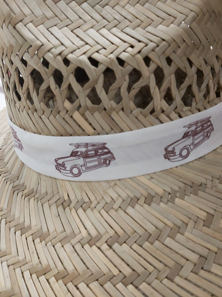 Hat Sun Protection w/Drawstring - Band w/Cars