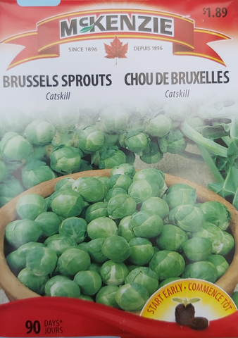 McKenzie Seeds Brussell Sprouts Catskill
