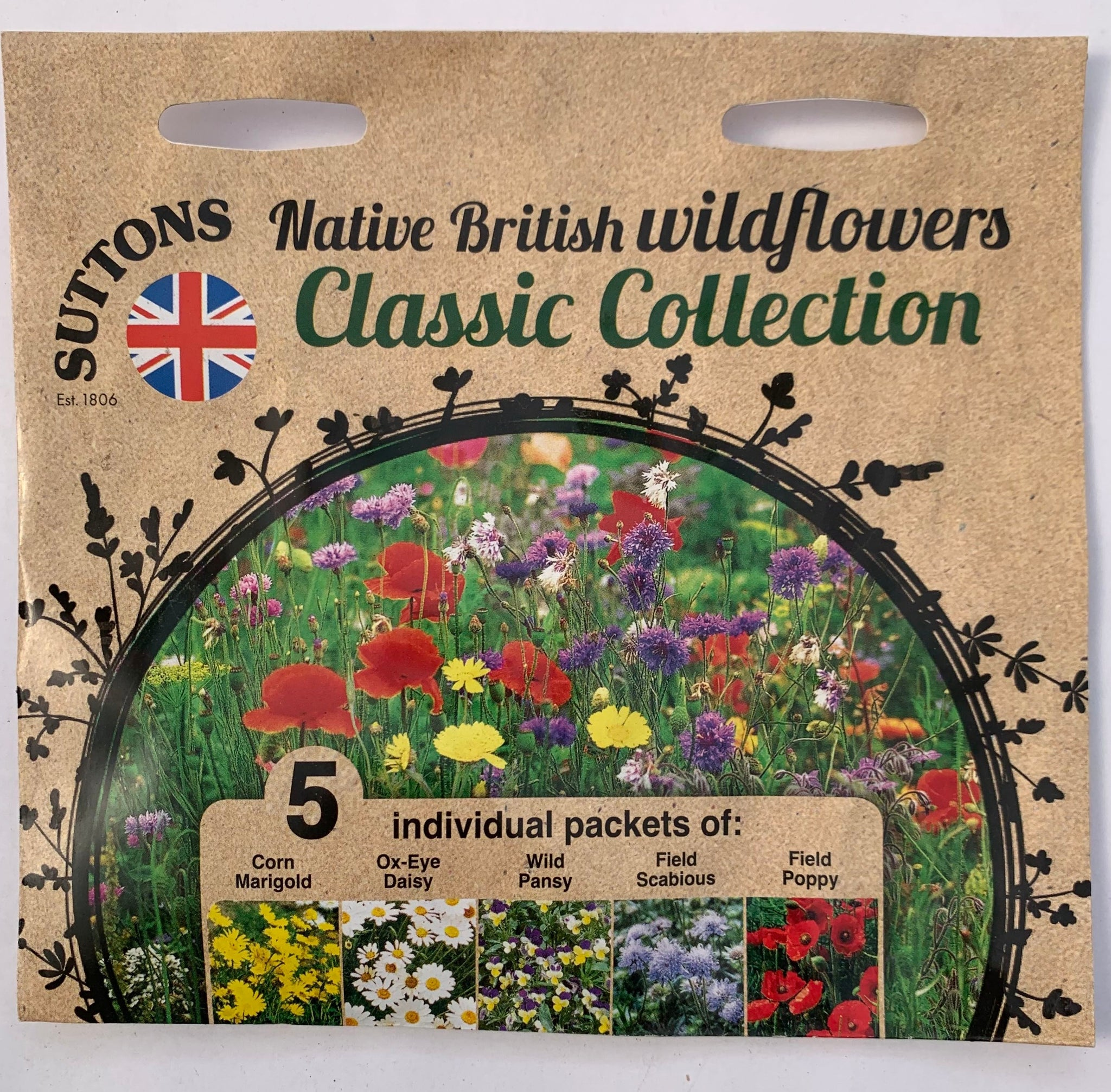 Suttons Seeds Native British Wildflower Collection - Classic