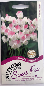 Suttons Seeds Sweet Pea - Lavender Bridesmaid