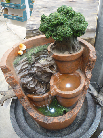 "Fountain 15.5""H - Pots Inside A Pot"