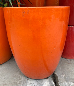 "Planter Godwin Round 18"" Orange"