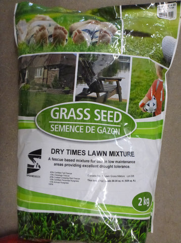 Grass Seed - Dry Times Mixture 2kg