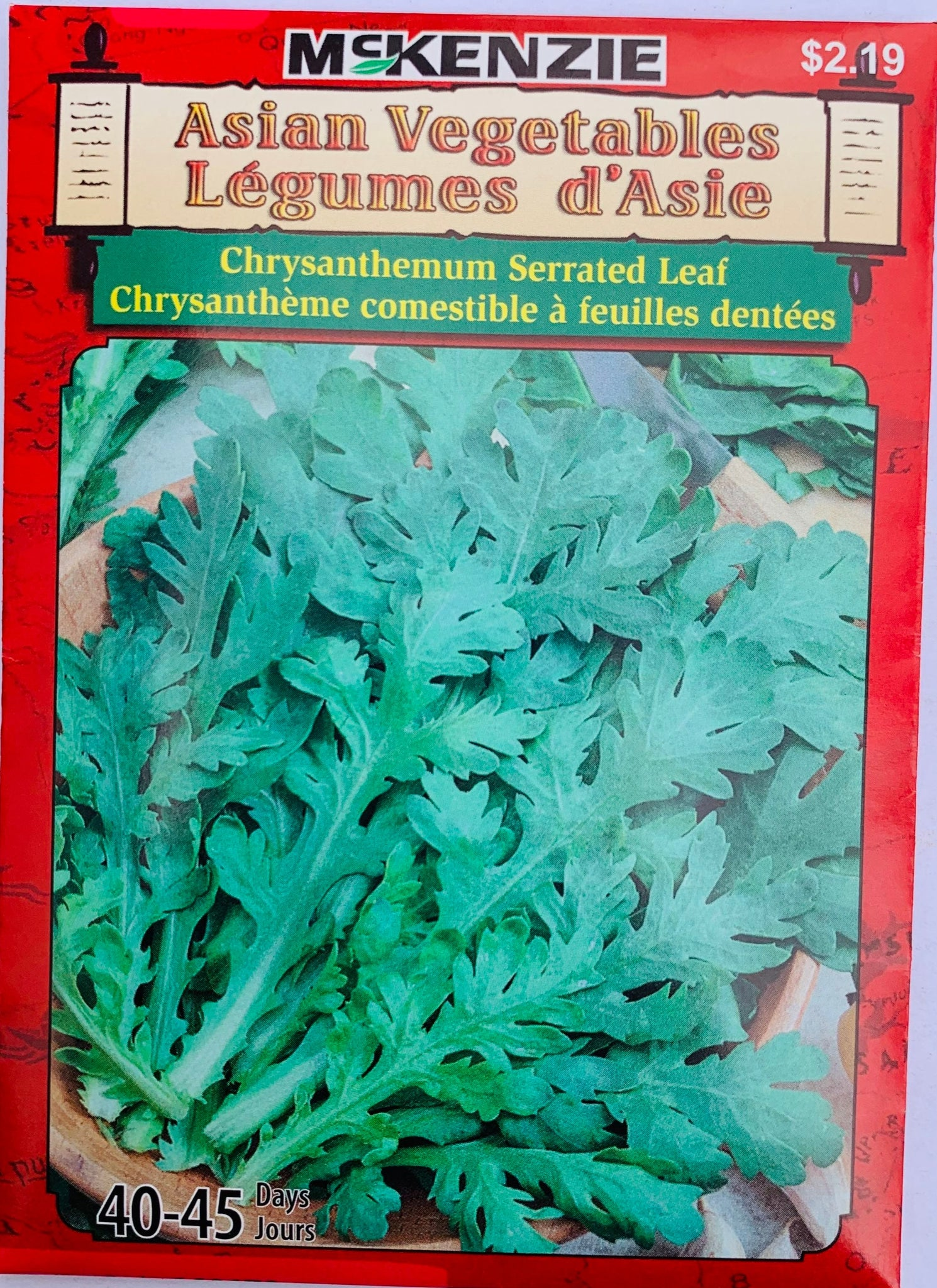 McKenzie Seeds Asian - Chyrsanthemum Serrated Leaf