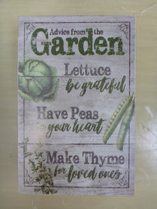 "Gardening Block - ""Advice From The Garden"""