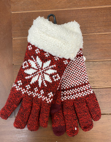 Winter Gloves Lined-Red
