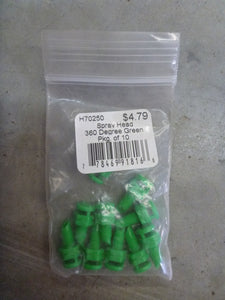 Spray Head 360 Degrees - 10 Pack Green