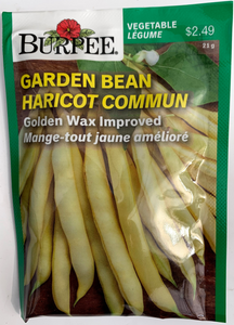 Burpee Seeds Garden Bean Golden Wax Improved