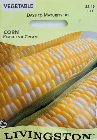 Livingston Seeds Corn - Peaches and Cream