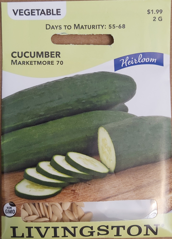 Livingston Seeds Cucumber Marketmore 70