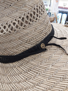 Hat Sun Protection w/Drawstring - Black Braided Band