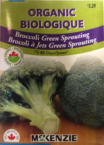 McKenzie Seed Organic Broccoli Green Sprouting