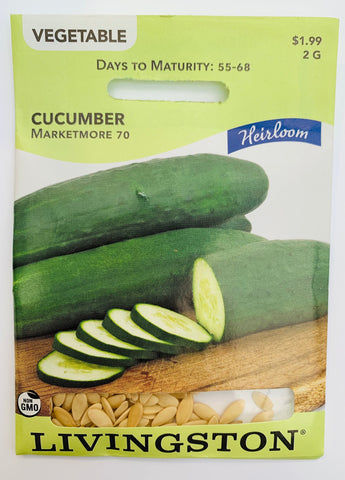 Livingston Seeds Cucumber - Marketmore 70