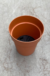 "Viva Planter w/reservoir 23cm/9"" Terracotta"