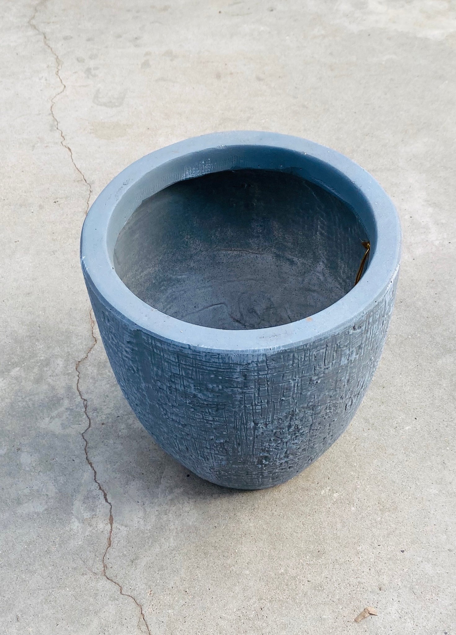 Round Fiberclay Pot Grey SM
