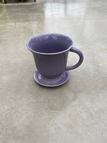 "Planter Teacup w/Saucer 18cm/7"" Purple"
