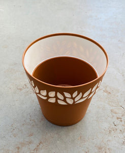 Leaf Plastic Pot 5.9""