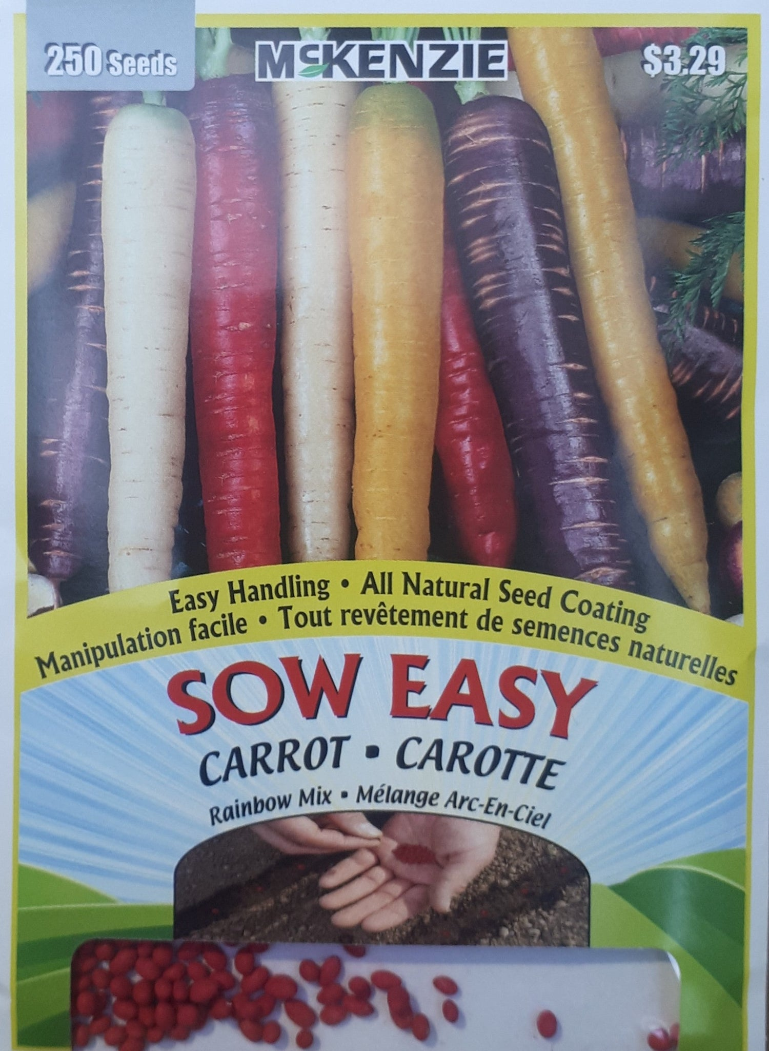 McKenzie Sow Easy Seeds - Carrot Rainbow Mix