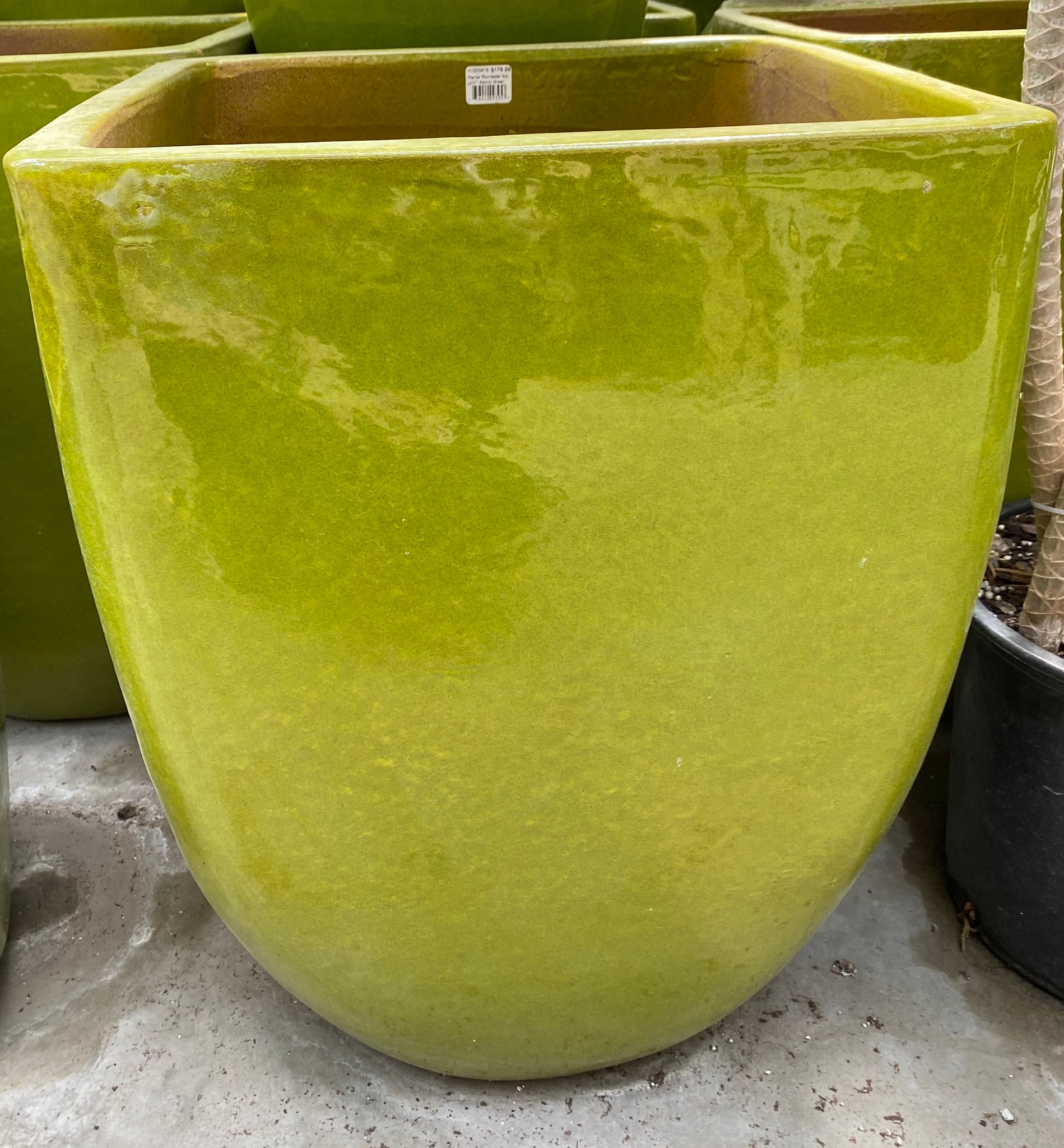 "Planter Rochester Square 17"" Atomic Green"