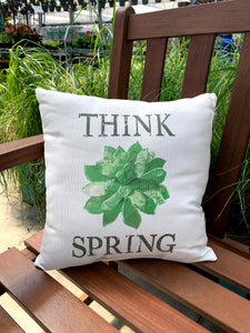"Pillow ""Think Spring"" Succulent"