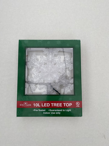 Tree Topper Snowflake-10 Lights