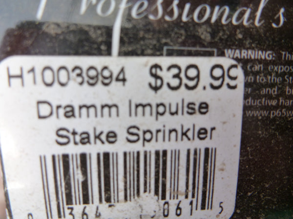 Dramm Impulse Stake Sprinkler - Red