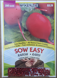 McKenzie Sow Easy Seeds - Radish Crimson Giant