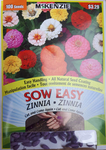 McKenzie Sow Easy Seeds - Zinnia Cut and Come Again