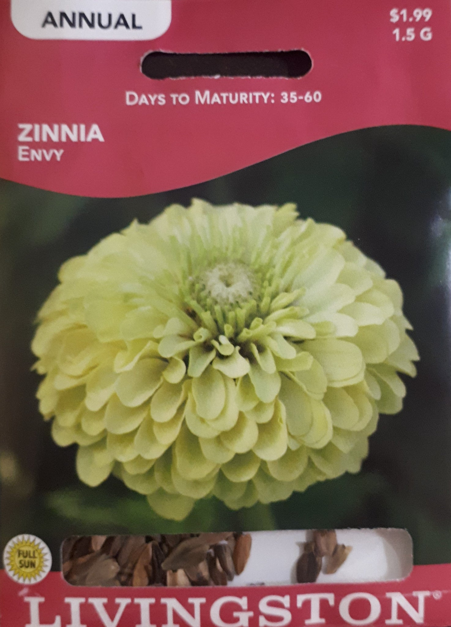 Livingston Seeds - Zinnia - Envy